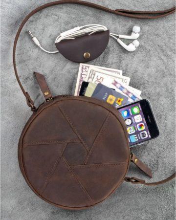 кожаная сумка клатч ручной работы