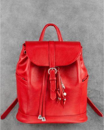 красный кожаный рюкзак ручной работы в киеве