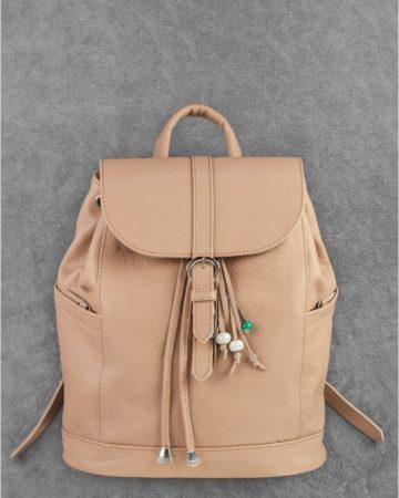 светлый рюкзак из кожи ручной работы в киеве