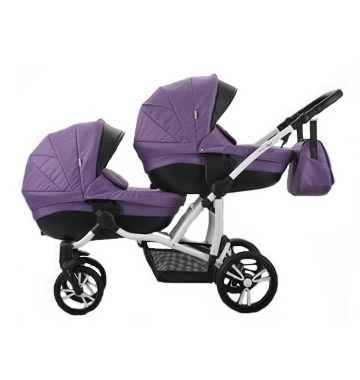 коляска для двойни фиолетовая